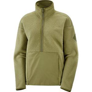 Salomon Women's Snowshelter Teddy Half Zip (2020) Grøn Grøn L