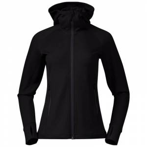 Bergans Ulstein Wool Hood Women's Jacket Sort Sort XS