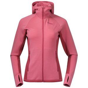 Bergans Cecilie Wool Hood Jacket Women's Pink Pink XL