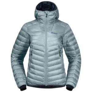 Bergans Women's Senja Down Light Jacket With Hood Blå Blå L