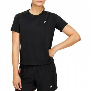 Asics Women's Icon Short Sleeve Top Sort Sort M