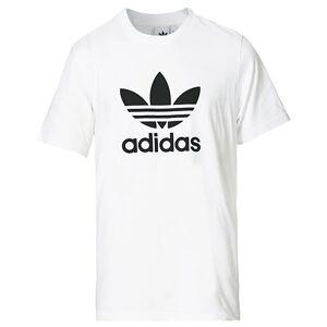adidas Originals Trefoil Logo Crew Neck Tee White men S Hvid