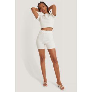 NA-KD Ribbed Shorts - Offwhite