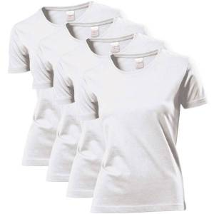 Stedman 4 pakkaus Classic Women T-shirt - White * Kampanja *  - Size: ST2600 - Color: valkoinen