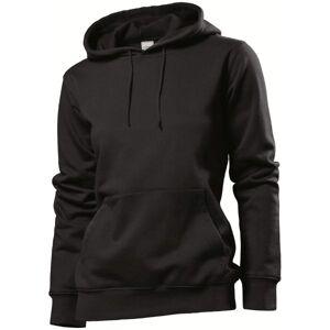 Stedman Sweatshirt Hooded Women - Black  - Size: ST4110 - Color: musta