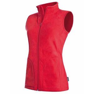 Stedman Active Fleece Vest For Women - Red  - Size: ST5110 - Color: punainen
