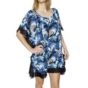 Milano Poncho - Blue Pattern  - Size: 14452 - Color: Sininen kuvioi