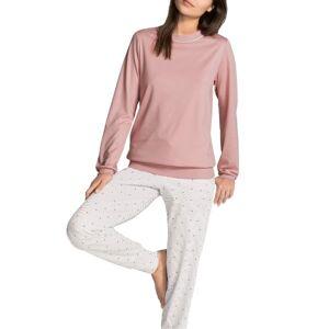 Sweet Dreams Pyjama With Cuff - Pink Striped  - Size: 40536 - Color: Vaaleanpunainen raidallinen