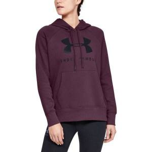 Under Armour Rival Fleece Sportstyle Hoodie - Wine red  - Size: 1348550 - Color: viininpun.