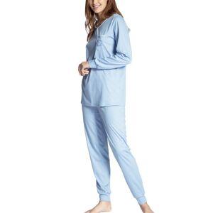 Cosy Cotton Nights Pyjama With Cuff - Lightblue  - Size: 41133 - Color: vaalean sin.