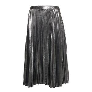 Banana Republic Metallic Pleated Midi Skirt Polvipituinen Hame Hopea Banana Republic