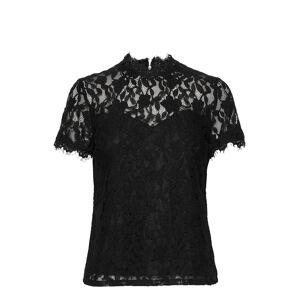 Vila Vicoralia S/S Top/Dc Blouses Short-sleeved Musta Vila
