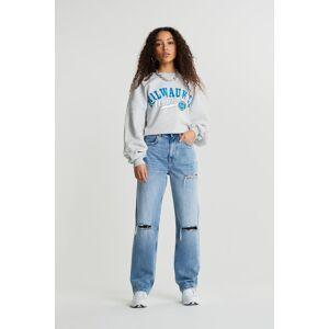 Gina Tricot 90s PETITE high waist jeans - Lt vintage dest (5043) - Size: 34
