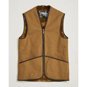 Warm Pile Waistcoat Zip-In Liner Brown