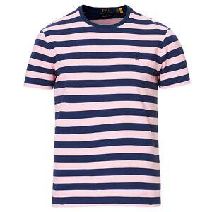 Ralph Lauren Custom Slim Fit Stripe Tee Pink/Navy