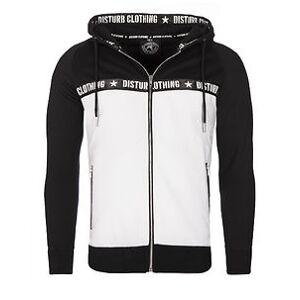 Disturb Clothing GREAFAL VETOKETJUHUPPARI - Musta/Valkoinen Hupparit & Collegetakit  - Size: S