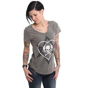 893 love v-aukkoinen t-paita - Harmaa Topit & T-paidat  - Size: 2XL