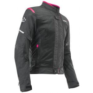 Acerbis Ramsey Vented Naisten moottori pyörä tekstiili takkiMusta Pinkki
