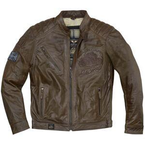 Black-Cafe London Black Cafe London Houston Moottori pyörä nahka takki  - Ruskea - Size: 60