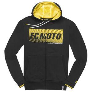 FC-Moto Waving Vetoketju Huppari  - Musta Keltainen - Size: 3XL
