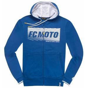 FC-Moto Waving Vetoketju Huppari  - Valkoinen Sininen - Size: L