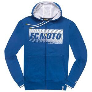 FC-Moto Waving Vetoketju Huppari  - Valkoinen Sininen - Size: M