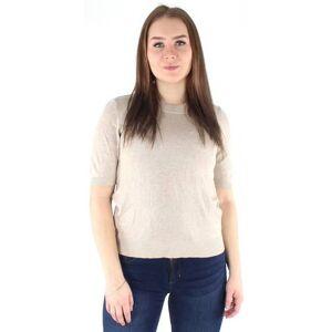 Vila T-paita Linda knit  - BEIGE - Size: M
