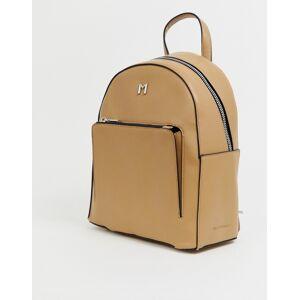 Melie Bianco faux leather back pack - Beige