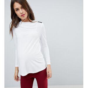 bb625fa1176441 Se TILBUD på Asos DESIGN Sexy Drape Crop Top with High Neck - Blush ...