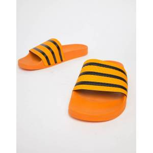official photos 68bf0 848f6 Adidas Originals Adilette Sliders In Yellow CQ3099 - Yellow