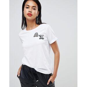 Armani Exchange 3d ax logo t-shirt - 1100 white
