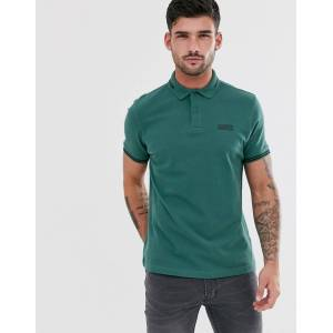 Barbour International essential tipped polo in teal - Green