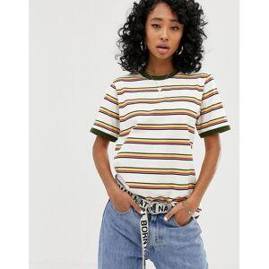 Dickies relaxed ringer t-shirt in retro stripe - Beige stripe
