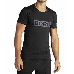 Björn Borg Aldo Perf Tee - T-skjorte - Black Radiate - L