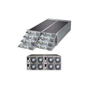 Supermicro SuperServer F617R3-FT - 8 noder - maskingruppe - rackmonterbar - 4U - toveis - RAM 0 MB - uten HDD - G200eW - GigE - monitor: ingen