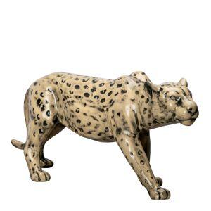 By On Leopard Skulptur 32x14 cm