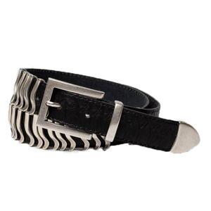Cala Jade Rattle Belt - Black Python Silver