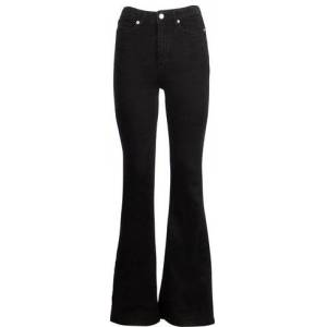 NA-KD Skinny Bootcut Jeans - Black