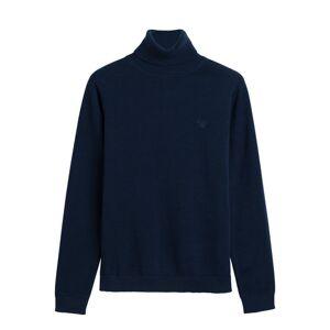 GANT LT Weight Cotton Turtleneck - Evening Blue