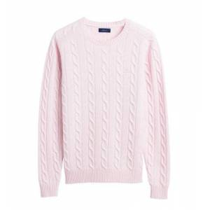 GANT Lambswool Cable Crew - Rose