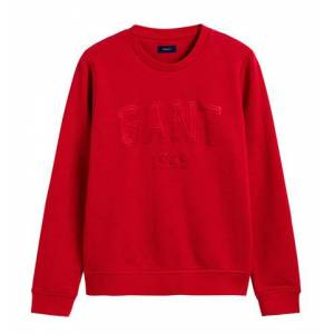 GANT 1949 C-Neck Sweat - Red
