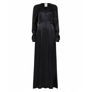 Line of Oslo Peaches Long Solid Dress - BlackSvart