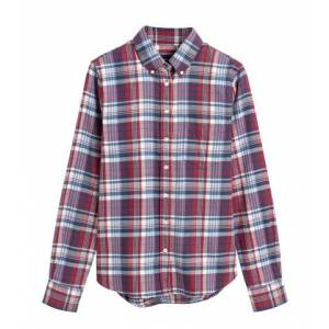 GANT Faded Winter Twill Check Shirt - Mahogny Red