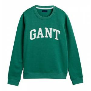 GANT Arch Logo C-neck Sweat - Jade Green