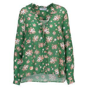 2nd Hand Villoid FWSS Bente w. Frill - Green Roses All Over L