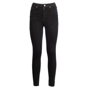 NA-KD Skinny High Waist Raw Hem Jeans - Black