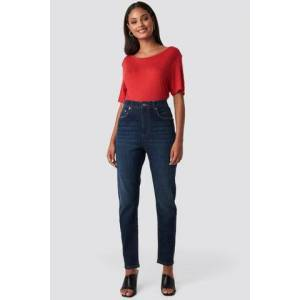 NA-KD Mom Jeans - Dark Blue