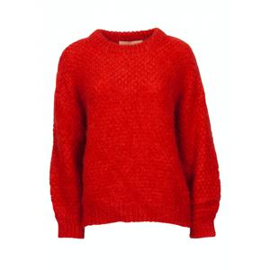 2nd Hand Villoid Billie & Me April Mohair Sweater - Fire Orange XS