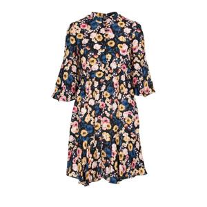 ByTimo Vintage Drape Mini Dress - Flora Black