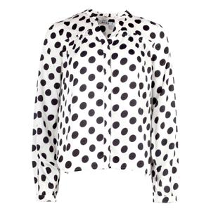 NA-KD Big Dots Long Sleeve Blouse -White/Black